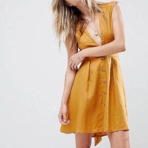 Mini dress by Faithfull button front